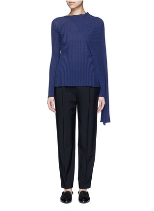 Main View - Click To Enlarge - The Row - 'Inga' drape neck rib knit wrap top