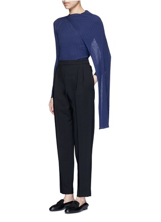 Figure View - Click To Enlarge - The Row - 'Inga' drape neck rib knit wrap top
