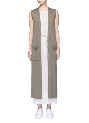 Main View - Click To Enlarge - Theory - 'Torina SL' long wool cardigan