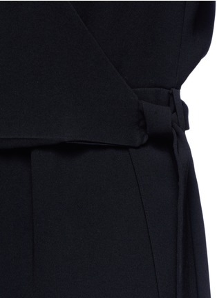 Detail View - Click To Enlarge - Theory - 'Alvmie' wrap front crepe jumpsuit