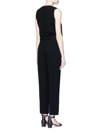 Back View - Click To Enlarge - Theory - 'Alvmie' wrap front crepe jumpsuit