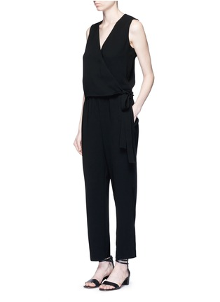 Figure View - Click To Enlarge - Theory - 'Alvmie' wrap front crepe jumpsuit