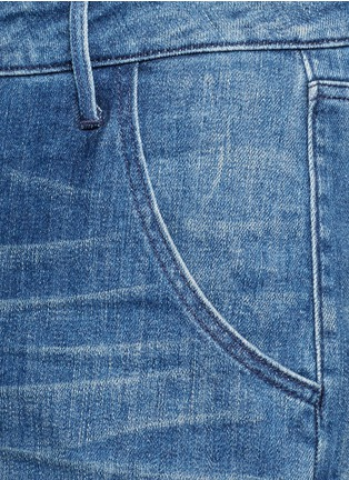 Detail View - Click To Enlarge - 3x1 - Roll cuff denim overalls