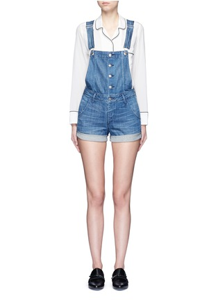 Main View - Click To Enlarge - 3x1 - Roll cuff denim overalls