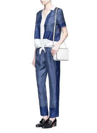 Figure View - Click To Enlarge - Equipment - 'Keira Tie Front' foulard dot print silk shirt