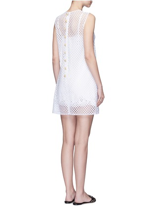 Back View - Click To Enlarge - - - Pineapple embellished lattice embroidery dress