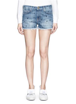 Detail View - Click To Enlarge - Current/Elliott - 'The Boyfriend' star print cutoff denim shorts