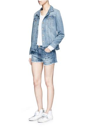 Figure View - Click To Enlarge - Current/Elliott - 'The Boyfriend' star print cutoff denim shorts