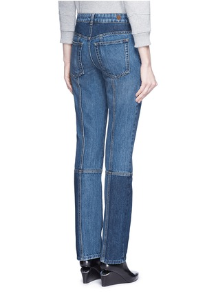 Back View - Click To Enlarge - ALEXANDER MCQUEEN - Patchwork jeans