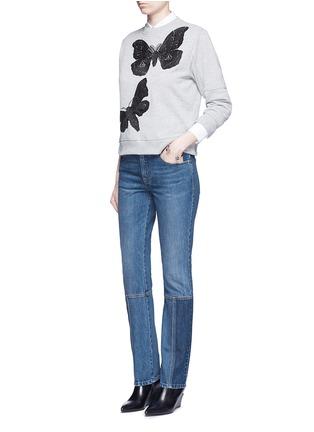 Figure View - Click To Enlarge - Alexander McQueen - Patchwork jeans