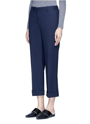 Front View - Click To Enlarge - Theory - 'Contour' virgin wool cropped pants