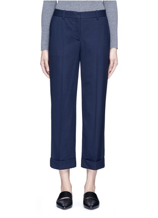 Main View - Click To Enlarge - Theory - 'Contour' virgin wool cropped pants