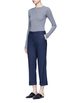 Figure View - Click To Enlarge - Theory - 'Contour' virgin wool cropped pants