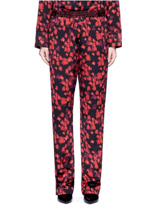 Main View - Click To Enlarge - Givenchy - Floral print silk satin pyjama pants