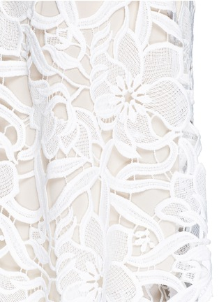 Detail View - Click To Enlarge - alice + olivia - 'Emmeline' floral lace tank top