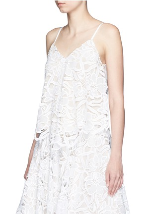 Front View - Click To Enlarge - alice + olivia - 'Emmeline' floral lace tank top