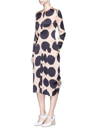 Figure View - Click To Enlarge - Stella McCartney - Polka dot print pleated silk dress