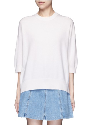 Main View - Click To Enlarge - Vince - Three-quarter sleeve cashmere sweater