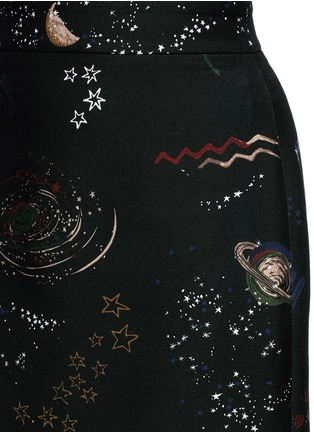 Detail View - Click To Enlarge - Valentino - Cosmos print Crepe Couture skirt