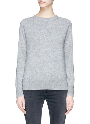 Main View - Click To Enlarge - Theory - Stripe sleeve cashmere sweater