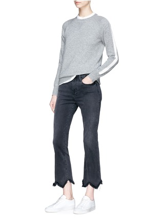 Figure View - Click To Enlarge - Theory - Stripe sleeve cashmere sweater