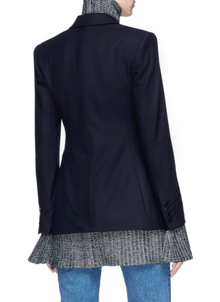 Back View - Click To Enlarge - Theory - Virgin wool blend melton blazer
