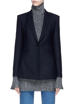 Main View - Click To Enlarge - Theory - Virgin wool blend melton blazer