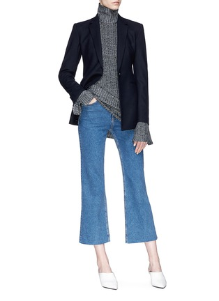 Figure View - Click To Enlarge - Theory - Virgin wool blend melton blazer