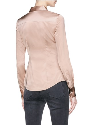 Back View - Click To Enlarge - Theory - 'Perfect fitted' silk satin shirt