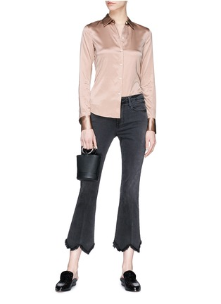 Figure View - Click To Enlarge - Theory - 'Perfect fitted' silk satin shirt