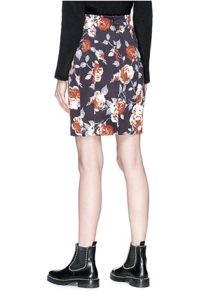 Back View - Click To Enlarge - Theory - Floral print pencil skirt