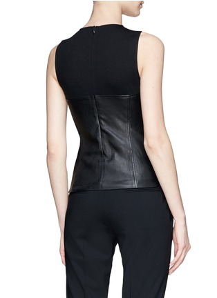 Back View - Click To Enlarge - Theory - Jersey yoke leather tank top