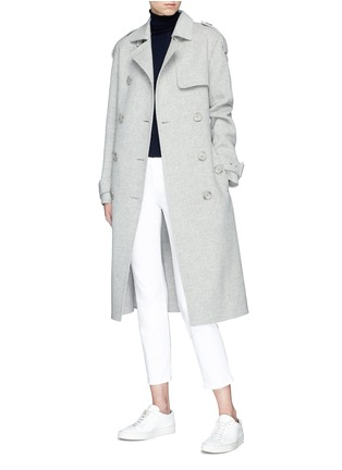 Figure View - Click To Enlarge - Theory - Double-faced wool-cashmere melton trench coat