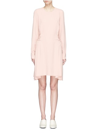 Main View - Click To Enlarge - Theory - Lace-up waist crepe dress
