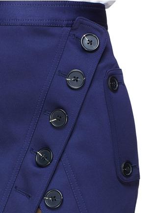 Detail View - Click To Enlarge - self-portrait - Guipure lace panel asymmetric satin skirt