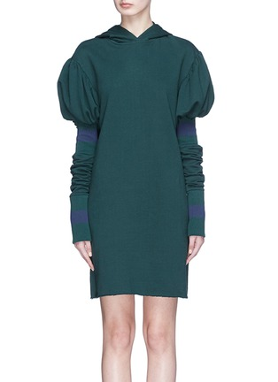 Main View - Click To Enlarge - Maggie Marilyn - 'Shines in the Dark' hooded sweat dress