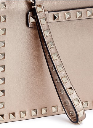 Detail View - Click To Enlarge - Valentino - 'Rockstud' leather flap clutch
