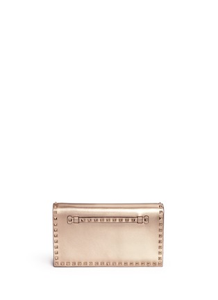 Main View - Click To Enlarge - Valentino - 'Rockstud' leather flap clutch