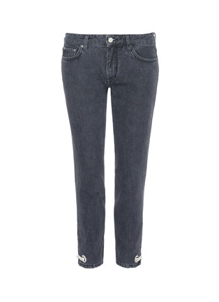 Main View - Click To Enlarge - VICTORIA, VICTORIA BECKHAM - Hook-and-eye cuff cropped jeans
