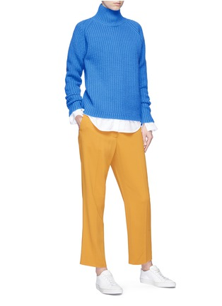 Figure View - Click To Enlarge - VICTORIA, VICTORIA BECKHAM - Lambswool funnel neck sweater