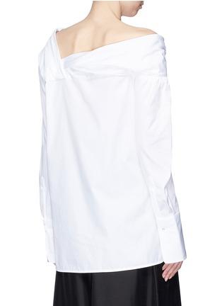 Back View - Click To Enlarge - VICTORIA, VICTORIA BECKHAM - One-shoulder poplin shirt