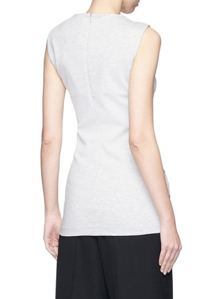 Back View - Click To Enlarge - VICTORIA, VICTORIA BECKHAM - Asymmetric ruched sleeveless jersey top