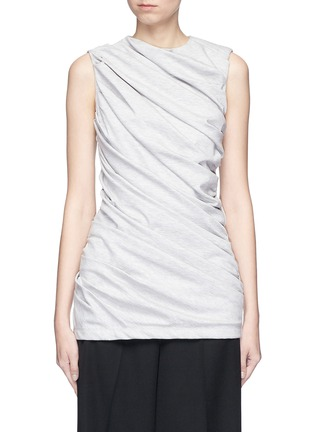 Main View - Click To Enlarge - VICTORIA, VICTORIA BECKHAM - Asymmetric ruched sleeveless jersey top