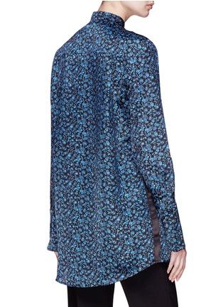 Back View - Click To Enlarge - VICTORIA, VICTORIA BECKHAM - Floral print silk satin shirt