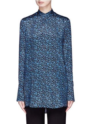 Main View - Click To Enlarge - VICTORIA, VICTORIA BECKHAM - Floral print silk satin shirt