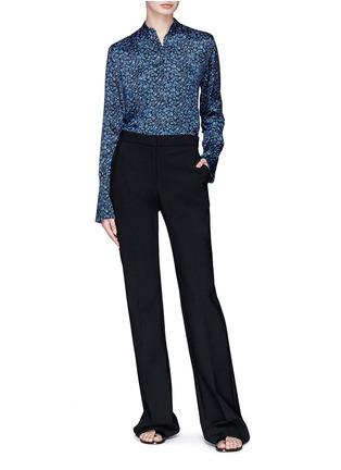Figure View - Click To Enlarge - VICTORIA, VICTORIA BECKHAM - Floral print silk satin shirt