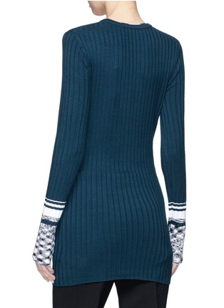 Back View - Click To Enlarge - VICTORIA, VICTORIA BECKHAM - Marled cuff rib knit sweater