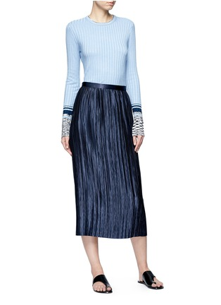 Figure View - Click To Enlarge - VICTORIA, VICTORIA BECKHAM - Marled cuff rib knit sweater