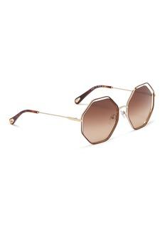 Chloé 'Poppy' metal octagon sunglasses