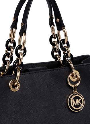 Detail View - Click To Enlarge - Michael Kors - 'Cynthia' medium saffiano leather satchel